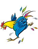 Running Rooster Stock Images