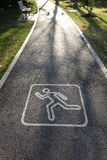 Running route sign Royalty Free Stock Image