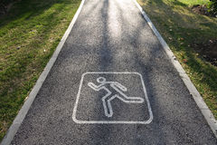Running route sign Royalty Free Stock Photo