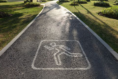 Running route sign Stock Photography