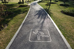 Running route sign Royalty Free Stock Photography