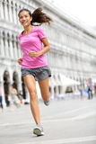 Running runner woman jogging in Venice Stock Image
