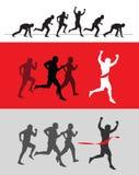 Running. ю authors illustration in vector Vector Illustration