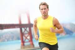 Running in San Francisco Royalty Free Stock Images