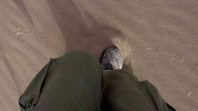 Running on Sand stock video