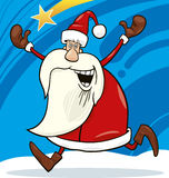 Running santa Royalty Free Stock Photos