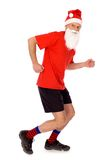 Running Santa Stock Images