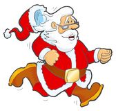 Running Santa Royalty Free Stock Photo