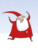 Running Santa Claus Royalty Free Stock Image