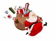 Running Santa Claus royalty free illustration