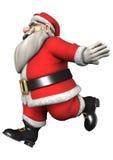 Running Santa Royalty Free Stock Photos