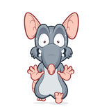Running scared rat. Vector clipart picture of a running scared rat Royalty Free Stock Image