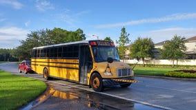 A running school bus Stock Image