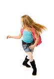 Running school girl Royalty Free Stock Photography
