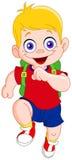 running schoolboy Royaltyfri Fotografi
