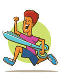 Running with Scissors Royalty Free Stock Image