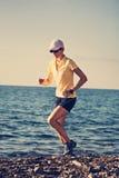 Running at sea Royalty Free Stock Photo