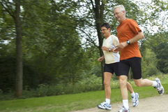 Running Seniors Royalty Free Stock Photos