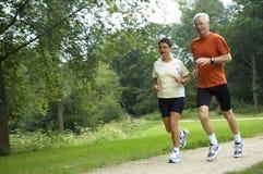 Running Seniors royalty free stock photos