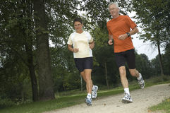Running Seniors Stock Photos