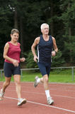 Running Seniors Stock Photography