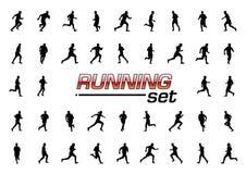 Running set royalty free illustration