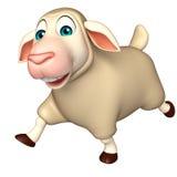 Running Sheep  cartoon character Royalty Free Stock Photos
