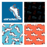 Running shoe designs. Stock Images