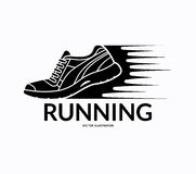 Running shoe icon. Vector illustration Stock Image