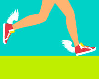 Running shoe with wings Royalty Free Stock Photos