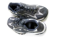 Running shoes stock photography