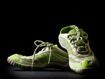 Running shoes. On low key background Royalty Free Stock Photo