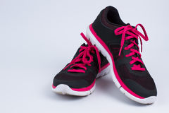 Running shoes. Beautiful stylish women's running shoes stock photography
