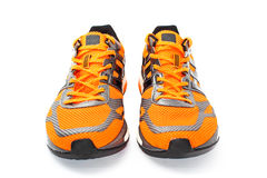 orange Running shoes Stock Photo