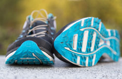 Running shoes. Close up shot of a pair of running shoes. Shallow D.O.F royalty free stock images
