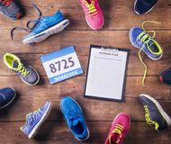 Running shoes on the floor Stock Photography