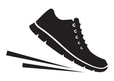 Running shoes icon Stock Photography