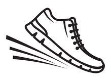 Running shoes icon Royalty Free Stock Image