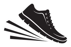 Running shoes icon Royalty Free Stock Images