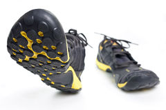 Running shoes isolated. Sport shoes isolated on white background, walking forward Royalty Free Stock Photography