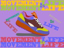 Running shoes. Movement Royalty Free Stock Photos