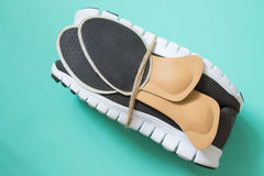Running shoes with orthopedic insoles. For sport and fitness. Ne Stock Photography