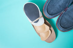 Running shoes with orthopedic insoles. For sport and fitness. Ne Royalty Free Stock Photography