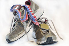 Running shoes side view Royalty Free Stock Photography