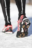 Running shoes traction soles Stock Images