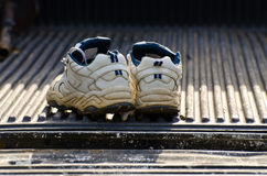 Running shoes in a truck Stock Photos