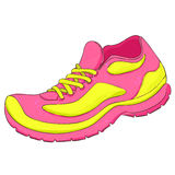 Running shoes  on white background. Vector Royalty Free Stock Image