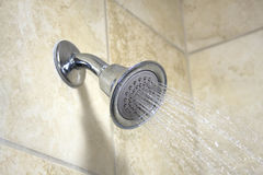 Running Showerhead Royalty Free Stock Images