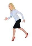 RUNNING SIDE femme d'affaires image stock