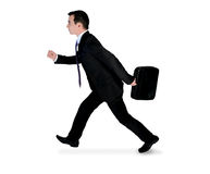 RUNNING SIDE homme d'affaires image stock